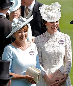 Catherine, Duchess of Cambridge (R) and her mother Carole Middleton attend day 1 of Royal Ascot at Ascot Racecourse on June 20, 2017 in Ascot, England.