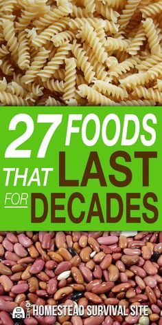 27 Foods That Last For Decades - Homestead Survival Site - As long as you store these emergency foods in airtight containers and in cool, dry, dark locations, - Emergency Preparedness Food, Emergency Food Storage, Emergency Food Supply, Emergency Preparation, Emergency Supplies, Survival Prepping, Survival Skills, Survival Gear, Apocalypse Survival