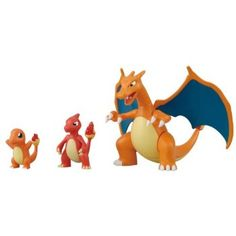 Pokemon Evolution Plastic Modeling Kit Charmander Charmeleon Charizard Plamo Figure Toy Lizardon Bandai (Japanese Import): It is a model kit to build the figures. They are not moulded characters and a model you build yourself.