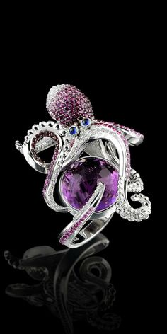 Gems Jewelry, Cute Jewelry, Jewelry Art, Jewelry Accessories, Jewelry Design, Unique Jewelry, Jewlery, Octopus Jewelry, Animal Jewelry