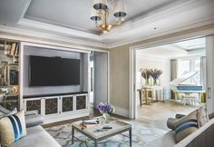 Media Room in the Stirling Suite. Photo © Langham Hotel