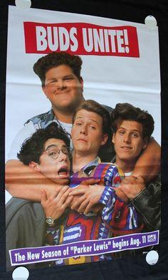 """PARKER LEWIS CAN'T LOSE 1990 FOX TV Poster Corin Nemec 25""""x39"""" """"BUDS UNITE"""""""