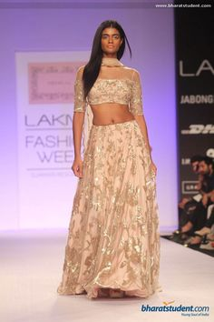 Slinky, blush lehenga by Shehla. Love.