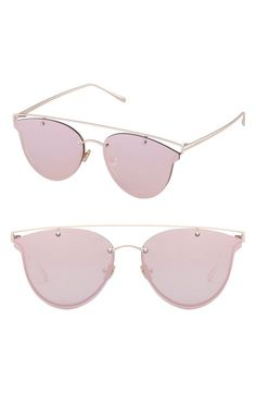Shades of pink. These semi-rimless cat eye sunglasses are the perfect mix of modern style & vintage chic