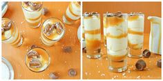 Salted Caramel Cheesecake Shooters //would be perfect for a tasting party