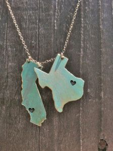 state necklace charms y&i clothing boutique | shopyandi.com