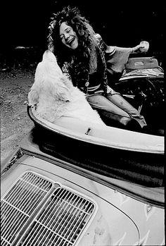 janis joplin and a doggie Janis Joplin, Kurt Cobain, Acid Rock, Big Brother, Jim Morrison, Female Singers, Jimi Hendrix, Pink Floyd, Woodstock