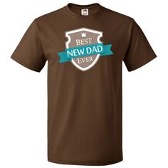Best New Dad Ever T-Shirt vintage shield logo gift for Father's Day. $19.99 www.homewiseshopperkids.com