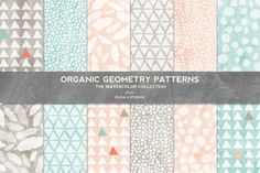 A personal favorite from my Etsy shop https://www.etsy.com/listing/228905294/organic-geometry-watercolor-patterns