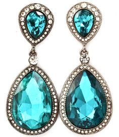 Frugal Fashion Jewelry Turquoise Colored Pierced Earrings Modern And Elegant In Fashion Fashion Jewelry