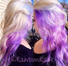 Image result for blonde hair with pastel purple underneath