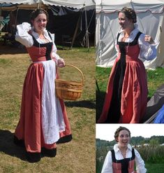 Orange German Dress 1500s by ~healormor on deviantART