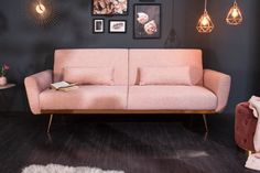 Luxusná rozkladacia sedačka staroružová. Xxl Sofa, Sofa Couch, Couch Design, Luxury Shop, Love Seat, Colours, Interior, Modern, Metal