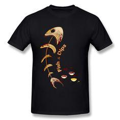 Customized Short Sleeve Fish & Dips men t shirt Lowest Price 100 % Cotton tee shirt for man