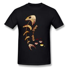 Customized Short Sleeve Fish & Dips men t shirt Lowest Price 100 % Cotton tee shirt for man