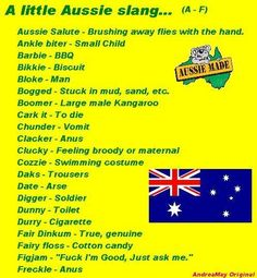 aussie slang phrases | Funny Aussie Sayings