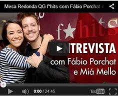 QGFhits tivemos um bate papo pra lá de divertido com o querido Fabio Porchat e Mia Mello.Já podem imaginar o tanto que rimos ?!!!!! E claro tem