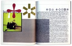 The Rise And Fall Of Grunge Typography - that time Raygun's designer David Carson disliked a Raygun article on Bryan Ferry, and set the entire spread in Zapf Dingbats. David Carson Design, Grid Design, Design Elements, Graphic Design, Web Design, Mise En Page Magazine, Ferry, Elements And Principles, Design Theory