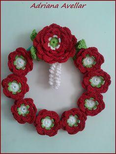 Christmas crochet  decoration flower collors