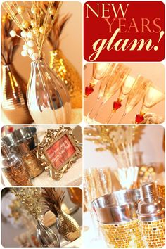 {Gold Glam} New Year's Party {Gold Glam} Neujahrsparty Nye Party, Gold Party, Party Time, New Years Eve Decorations, New Year Postcard, New Year Celebration, Nouvel An, New Years Eve Party, Holidays And Events