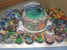 Skylanders birthday cake- Made by my BFF, what an awesome job she did!!