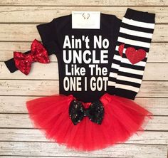 Baby Girl Clothes No Uncle Like The One I Got by BellaPiccoli