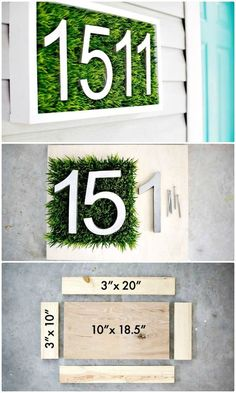 How to create house number tutorial - 101 easy diy spring craft ideas and projects - diy & crafts Arts And Crafts House, Diy Home Crafts, Easy Home Decor, Decor Crafts, Homemade Home Decor, Spring Projects, Spring Crafts, Easy Woodworking Projects, Diy Wood Projects