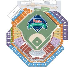 Citizen bank park seating chart phillies pinterest seating charts