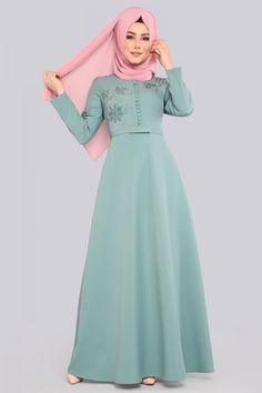 Abaya Fashion, Muslim Fashion, Fashion Dresses, Dress Brokat, Mode Abaya, Muslim Dress, Special Dresses, Designs For Dresses, Embroidery Fashion