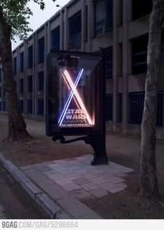 Star Wars outdoor advertising.  #Lightsabers