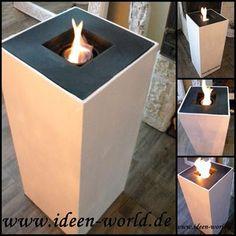 Kreative Holz Deko Säulen Feuerstellen