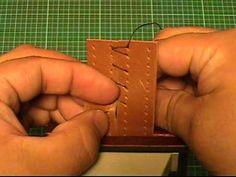 【革の縫い方っ!5】:『クロス・ステッチ-②(cross‐stitch-2)』 レザークラフト動画<012>