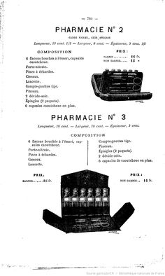 Publicité pour des pharmacies de poche, L'Union pharmaceutique : journal de la Pharmacie centrale de France : organe des intérêts scientifiques, pratiques et moraux de la profession, novembre 1887 Scientific Journal, Le Moral, France, Scientists, Pharmacy, November, Custom In, French