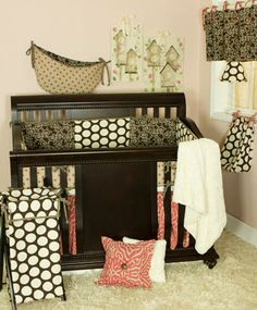 Raspberry Dot Bedding Collection by N Selby Designs