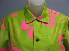 Vintage 1960's Hawaiian Shirt Unisex Hibiscus by TanteQVintage