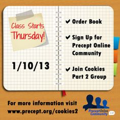 Join us for an online Bible Study! www.precept.org/poc