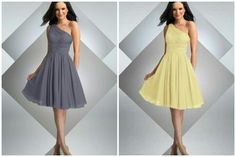 Gray and Yellow dresses by BariJay