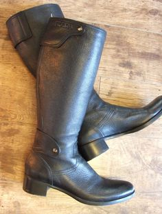 AUTH PRADA BLACK LEATHER  tall zip BOOTS. UK 5.5. EU 38.5 RRP £850. Immaculate!!