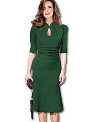 Women's Fashion Ruffle Dovetail Half Vintage Pe... – USD $ 19.99