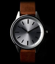 Primary photograph of product '251 Series (Brushed Steel / Walnut Brown Leather)'