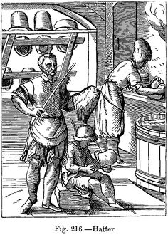1568: Hatters from Das Ständebuch (The Book of Trades) by Jost Amman (1539-1591)