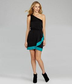 Available at Dillards.com #Dillards Shoulder Dress, One Shoulder, Bcbgeneration, Dillards, Black, Dresses, Fashion, Gowns, Moda