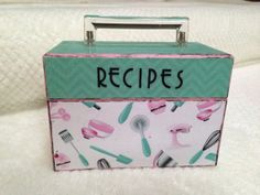 Shabby Retro Style Recipe Box by IzzyAndBelle on Etsy, $34.95