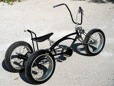 Monster chopper trike by Sebastian Anger Tricycle Bike, Trike Bicycle, Lowrider Bicycle, Cruiser Bicycle, Motorized Bicycle, Fat Bike, E Mountain Bike, Custom Trikes, Push Bikes