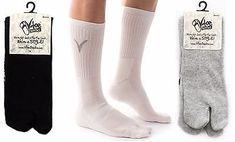 32fd9f56009b89 Details about 3 Pairs -V-Toe Athletic Tabi Flip Flop Socks - Black