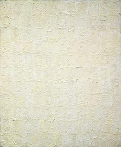 'White Numbers,' 1957; Jasper Johns, American, born 1930; encaustic on canvas; Museum of Modern Art, New York.