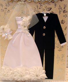 Diamond Rose Personalized Wedding Dress Card / C5 Size by BSylvar