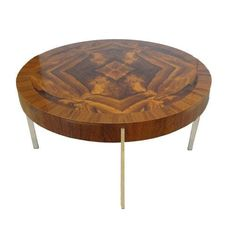 Mid-Century Round Cocktail Table in Walnut 1965