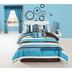 choppy blue comforter set