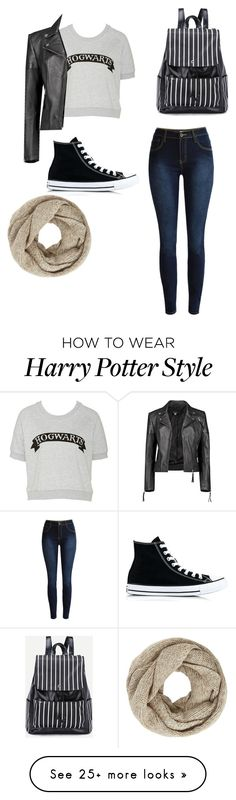 """""""Cozy Harry Potter inspired fall out fit"""" by lizzy-sangster on Polyvore featuring Boohoo, Converse and John Lewis"""